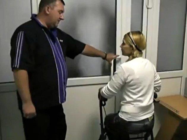 Julija Tymošenková v charkovské nemocnici.