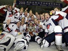 Americké hokejistky vyhrály MS v Číně.