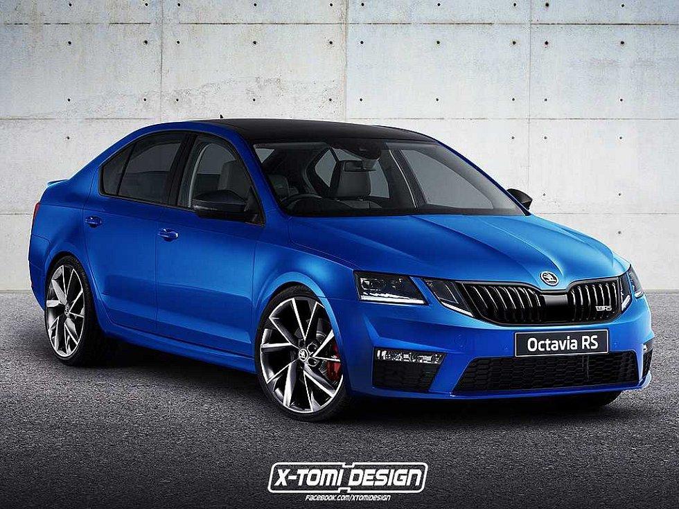 Možná podoba faceliftované Škody Octavia RS.