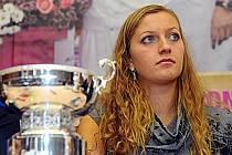 Petra Kvitová po návratu z finále Fed Cupu v Moskvě.