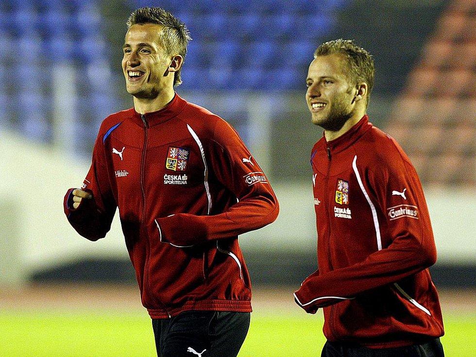 Tomáš Pekhart (vlevo) s Michalem Kadlecem