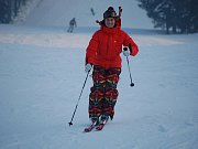 Akrobatická lyžařka Nikola Sudová na tiskové konferenci.