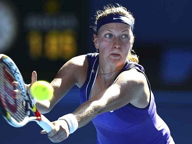 Petra Kvitová v semifinále Australian Open.
