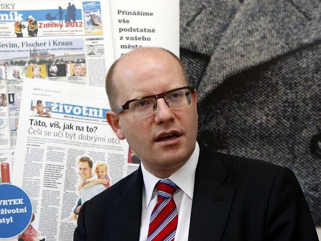 Premiér Bohuslav Sobotka (ČSSD).