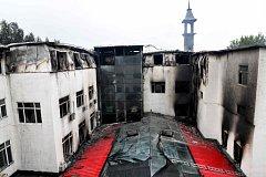 Požár v čínském hotelu