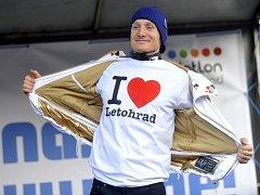 Trojnásobný medailista z olympijských her v Soči Ondřej Mravec v rodném Letohradu.
