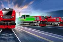 Vizualizace nového konceptu lokomotiv z CZ LOKO.