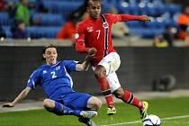 Snímek ze zápasu Norsko - Island