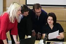 Jana Maláčová na zasedání důchodové komise