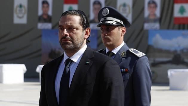 Odstupující premiér Saad Harírí