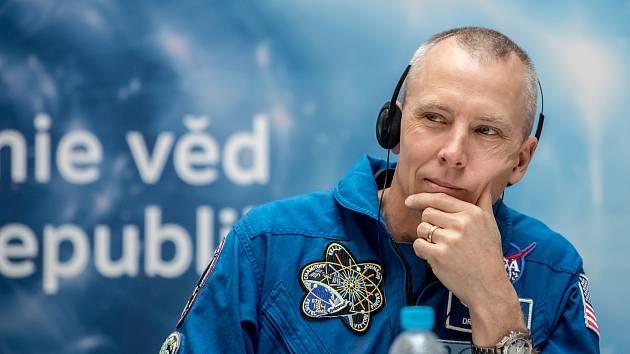 Americký astronaut Andrew Feustel v Praze.