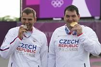 StříbrnýDavid Kostelecký (vlevo) a zlatýJiří Lipták.