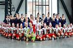 Vzpomínka. Úspěšný tým po mistrovství republiky v mažoretkovém sportu v Ostravě 2019.