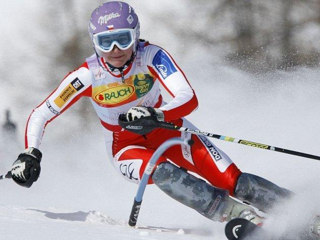 Česká slalomářka Šárka Záhrobská