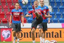 Otevřený trénink fotbalové reprezentace v Plzni
