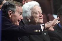 Barbara Bushová se svým mužem, prezidentem Georgem Bushem starším