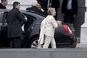 Na inauguraci dorazila i protikandidátka Donalda Trumpa Hillary Clintonová
