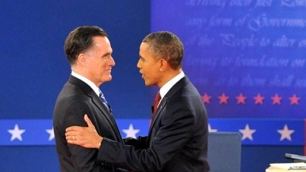 Mitt Romney a Barack Obama