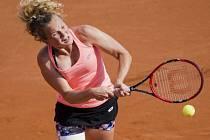 Kateřina Siniaková na turnaji v Bastadu.