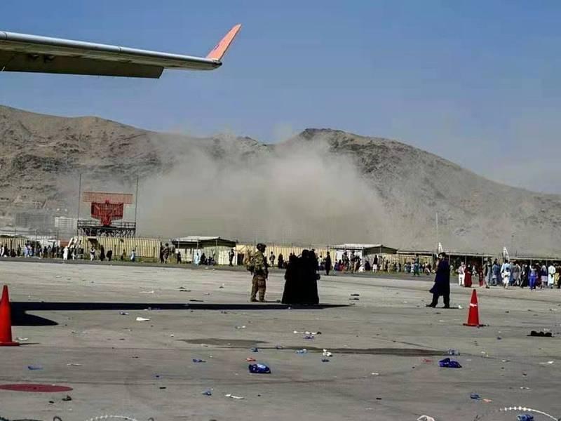 Výbuch na letišti v Kábulu