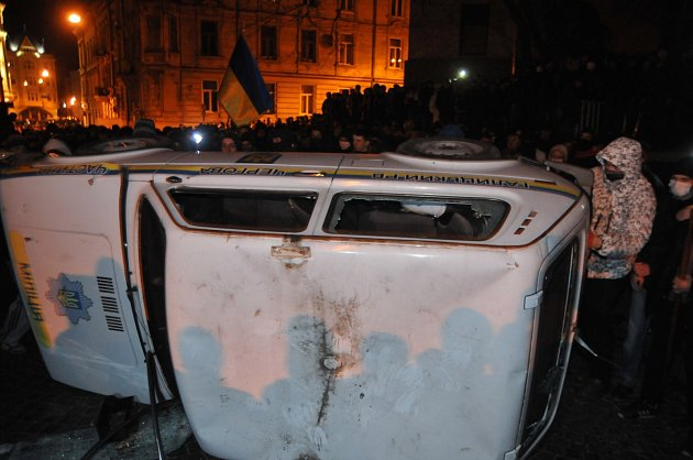 Demonstrace se nevyhnuly ani Lvovu (na snímku), kandidatura na pořádání ZOH je výrazně ohrožena