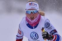 Česká reprezentantka v běhu na lyžích Kateřina Janatová.