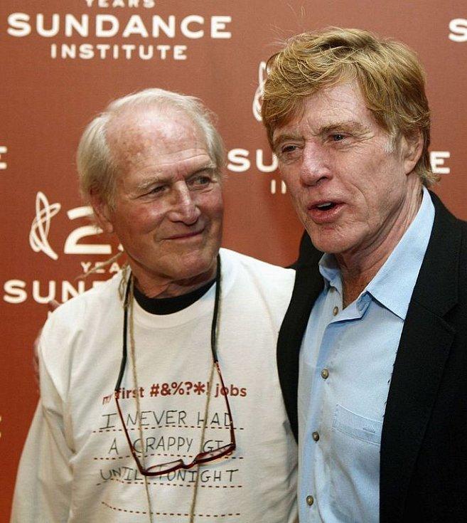 Paul Newman se svým hereckým kolegou Robertem Redfordem, s nímž vytvořil nezapomenutelnou dvojici