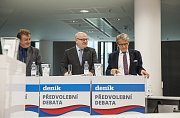 Předvolební debata Deníku: (zleva) Jiří Dolejš, Daniel Herman, Petr Robejšek.
