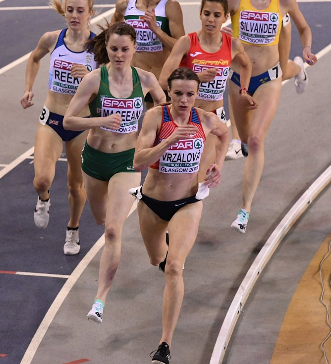 Simona Vrzalová, rozběh na 1 500 m