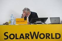 Generální ředitel SolarWorld Frank Asbeck musel přiznat porážku a vyhlásit bankrot