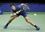 Novak Djokovič ve finále US Open.