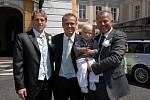 Klan Ličků. Marcel (uprostřed) s bratrem a otcem