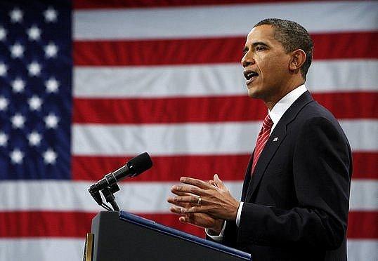 Barack Obama při svém projevu ve West Pointu