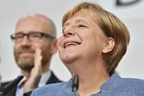 Angela Merkelová po vyhlášení výsledků voleb