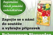 Zapojte se s námi do soutěže a vyhrajte přípravek Polyversum Biogarden, který se vypořádá se škůdci na vaší zahrádce.