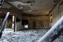 Zničená budova amerického velvyslanectví v Benghází.