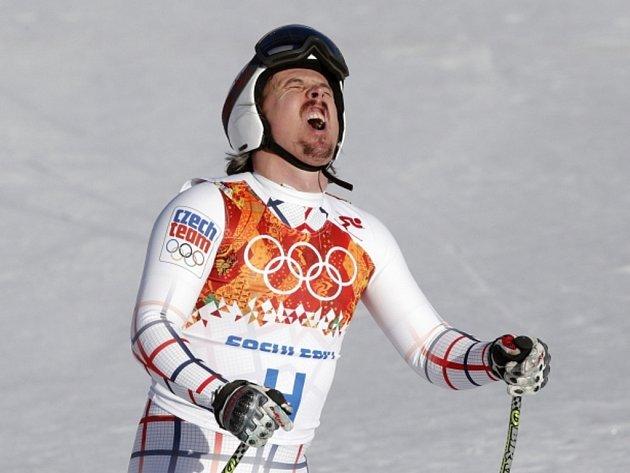 Ondřej Bank lituje. V superkombinaci mu patřilo po sjezdu druhé místo, po slalomu se ovšem propadl na sedmou příčku.