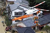 Následky tajfunu Talas v Japonsku.