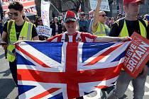V Londýně demonstrovali zastánci okamžitého brexitu