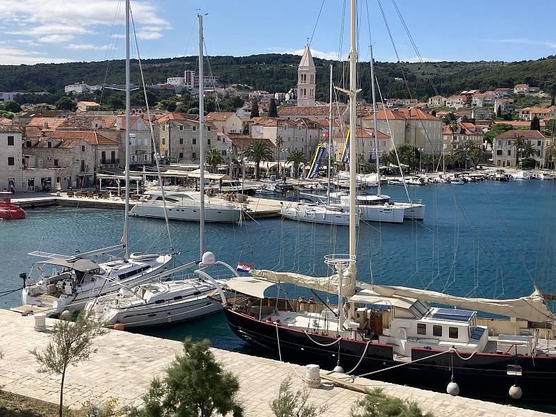 Split, největší město na pobřeží Dalmácie.