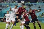 Čtvrtfinále fotbalového mistrovství Evropy mezi Českem a Dánskem