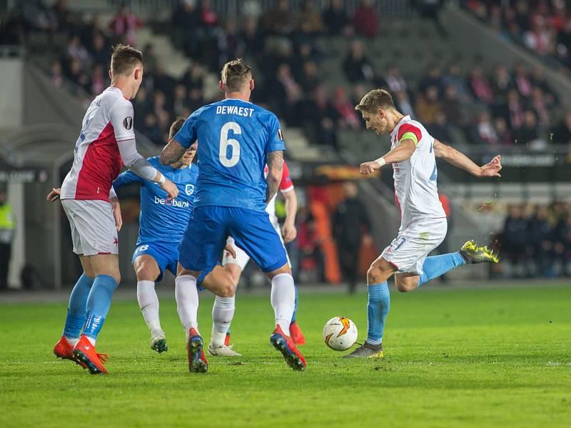 SK Slavia Praha vs. KRC Genk.