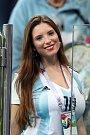 Argentinská fanynka. Fotbalové MS Rusko 2018