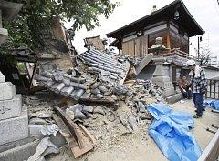 Ósaku zasáhlo zemětřesení o síle 6,1 Richterovy stupnice.