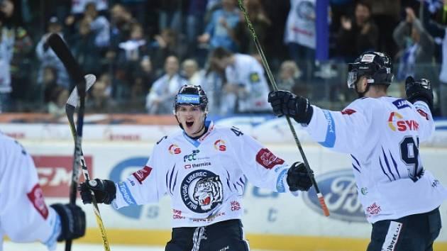 22. kolo extraligy: Liberec - Hradec Králové 2:1