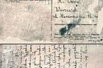 Pohlednice napsaná jedním z vězňů koncetračního tábora