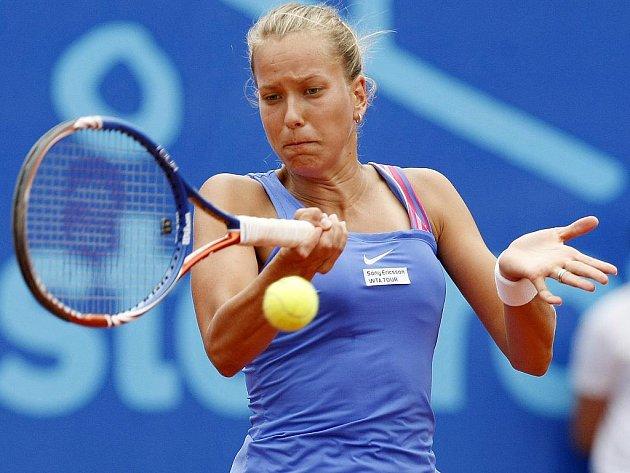 Česká tenistka Barbora Záhlavová-Strýcová ve finále ECM Prague Open.