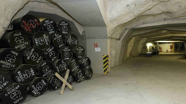 Úložiště radioaktivních odpadů. Ilustrační foto