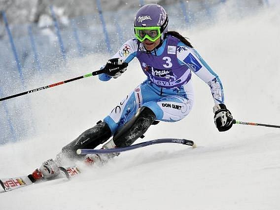 Šárka Záhrobská si v úvodním slalomu sezony zajistila první body do Světového poháru.