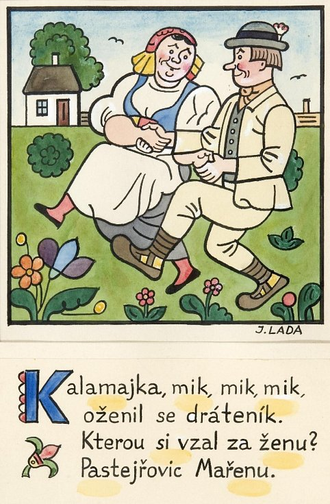 Obrázek Josefa Lady k písničce Kalamajka